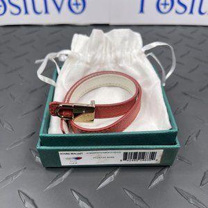 Buscemi Double Bracelet Litchi/Off White Leather